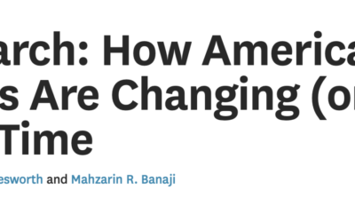 From HBR: How Americans' Biases Are Changing (or Not) Over Time