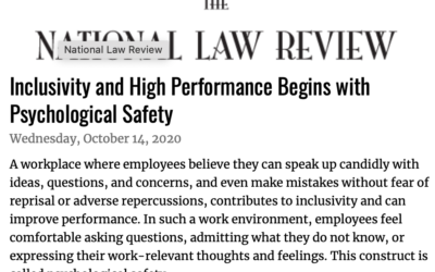 Inclusivity and High Performance Begins with Psychological Safety