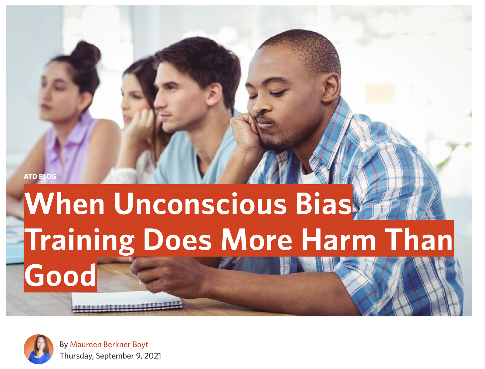 When Unconscious Bias Training Does More Harm Than Good