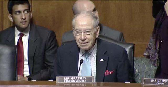 """""""I congratulate you and your people"""" - Grassley"""